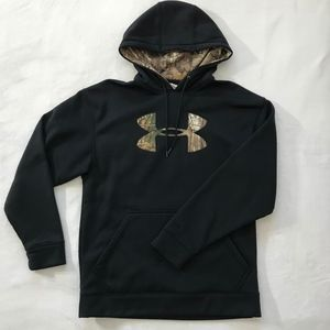 Mens Under Armour Fleece Camo Storm Caliber Hoodie